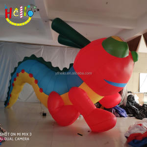 Carnival parade เดิน inflatable หนอน led inflatable parade caterpillar แมลงรุ่น