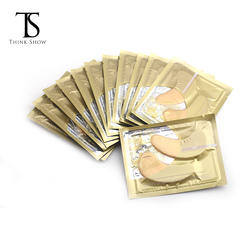 private label 24K gold collagen crystal eye patch for under eye pads eyelash extensions with gel in eye mask