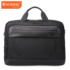 Aoking in voorraad laptop messenger schoudertas computer waterdichte lederen laptoptas 15.6 inch
