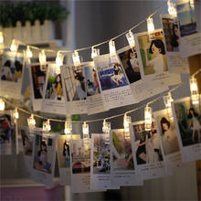 Waterproof Colored Battery Powered Operated Garland Card Photo Clip Led String Light