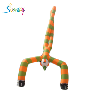 Customized inflatable dancing man, inflatable air dancer double leg