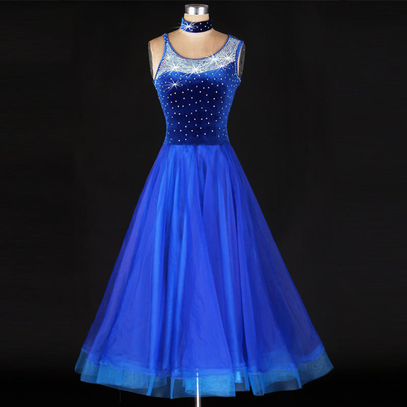 OCTM023 PROFESSIONAL MANUFACTURE HOT SALE FITTING CLASSICAL WOMEN'S BALLROOM DANCE DRESS