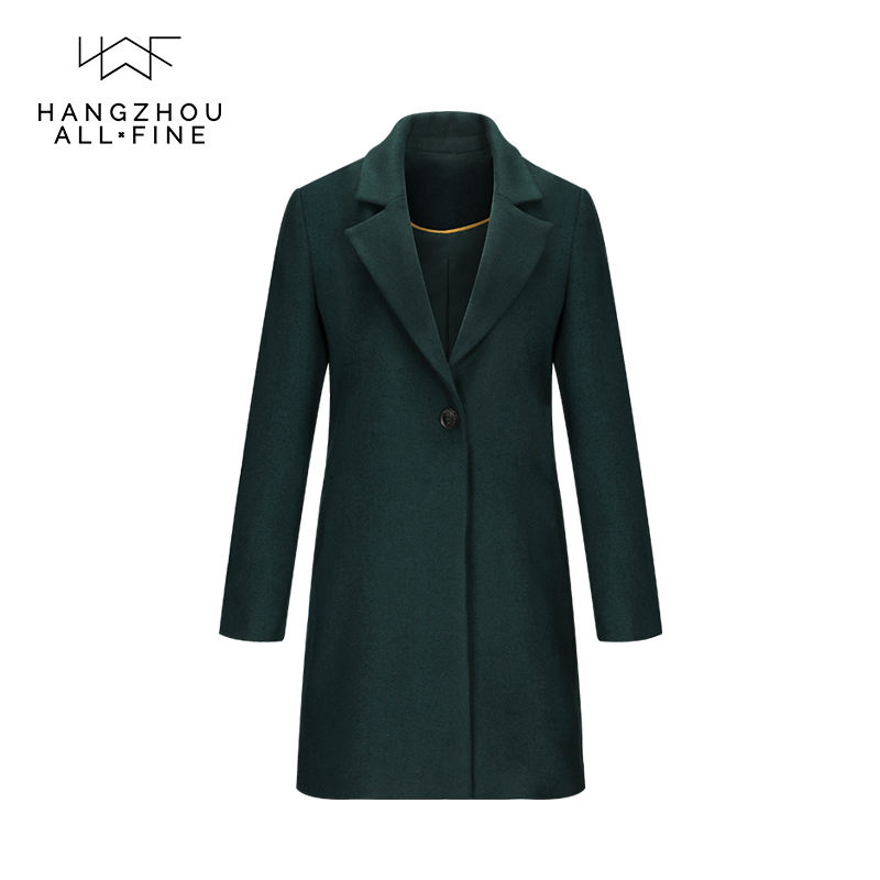 Reasonable price coat suits for ladies woman green small coat
