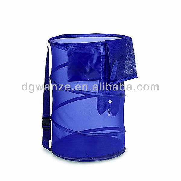 Collapsible mesh pop up laundry basket wire mesh laundry hamper