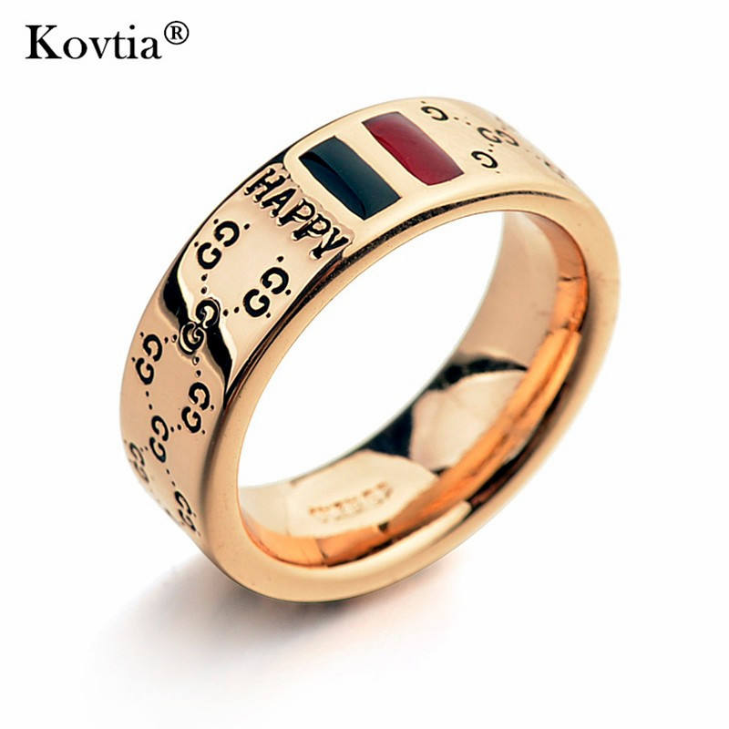 Supply high quality custom titanium stainless steel gold Engraved men rings
