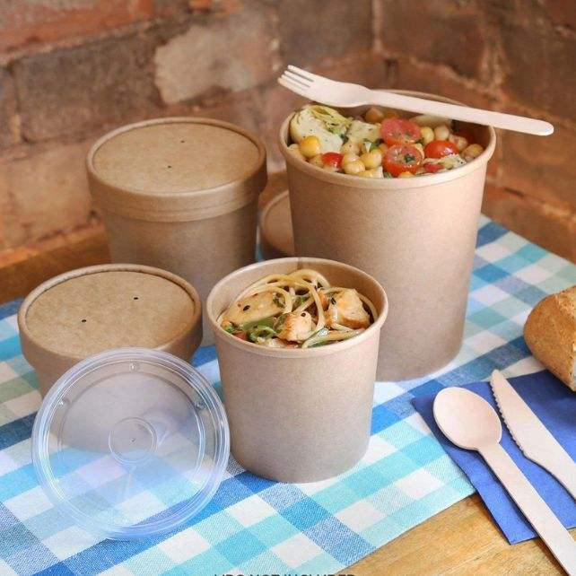 paper fast food soup cup with sip lid paper bowl dona