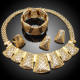 Big set african jewelry sets wholesale/copper alloy imitation gold filled jewelry set
