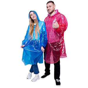 Disposable adult plastic raincoat with LOGO PE disposable rain poncho rain coat raincoat