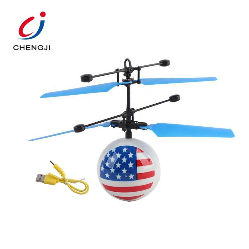 Hot selling mini rc induction radio remote flashing helicopter flying ball led
