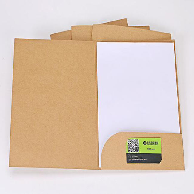 Printed Office A4 document custom paper presentation folder