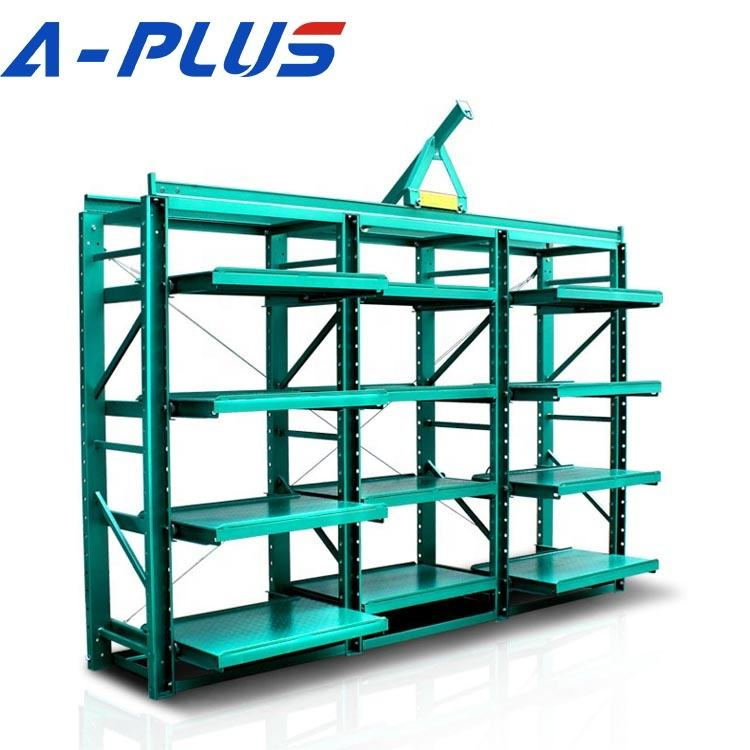 Wholesale China Supplier Workshop sliding drawer mold rack,mold storage rack,shelf with drawer