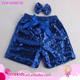 Royal Blue Toddler Infant Sequin Shorts Baby Shower Gift Baby Girl Fall Holiday First Birthday Sequin Shorts