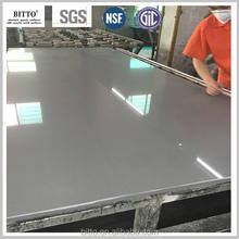 seamless joint faux stone composite stone acrylic solid surface table tops