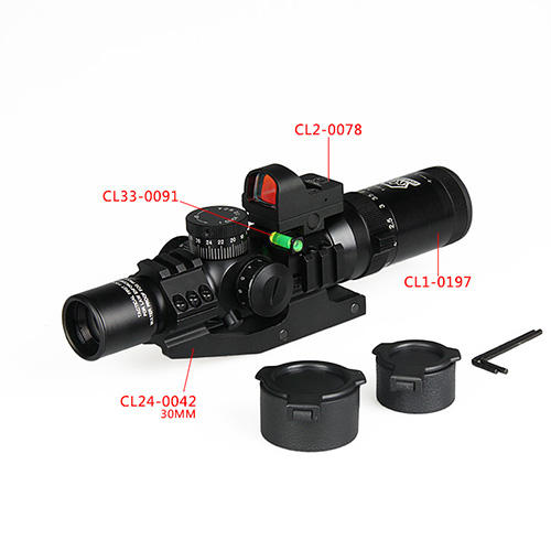 manufacturers oem 1-4X24 hunting long range thermal infrared optical rifle scope tactical scopes