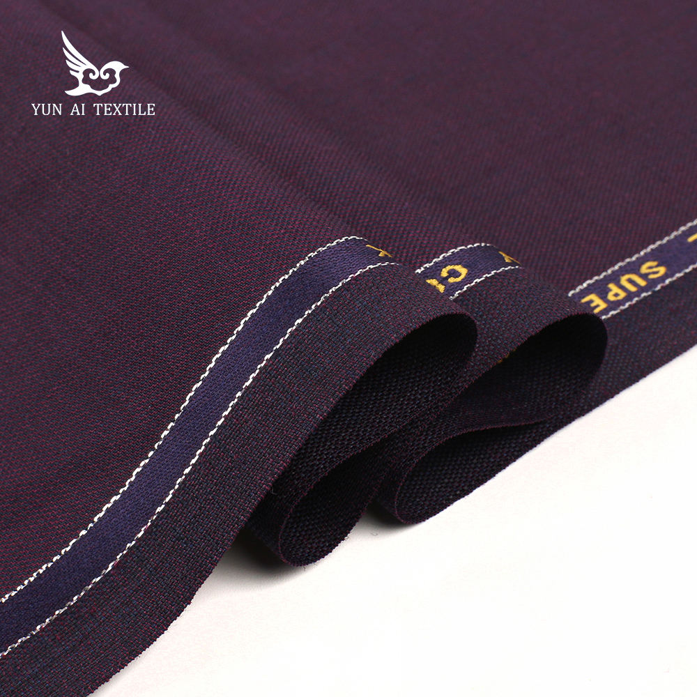 most popular stock italian cashmere worsted 100% wool fabric 120s for coats