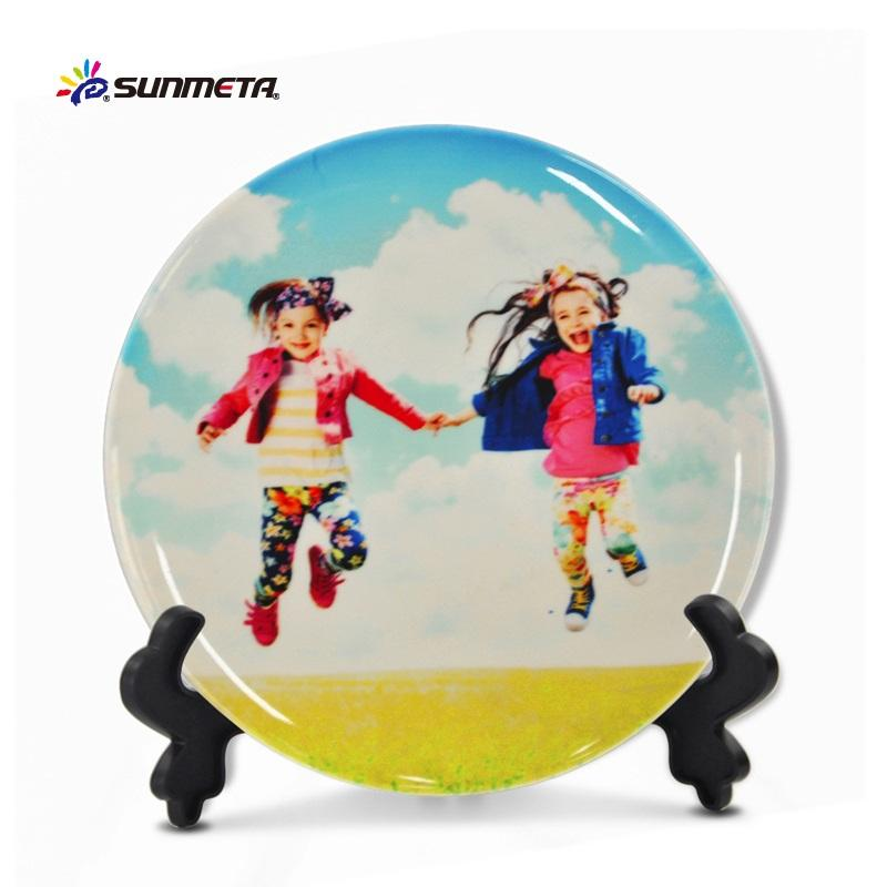 8 inch sublimation ceramic plate full printing plate/dishes