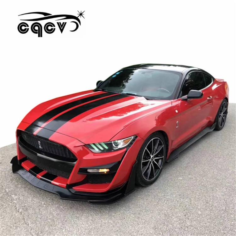 Car Door Panel Real Carbon Fiber Foot Pedal Trim fit For Mustang 2015-2018 GT500