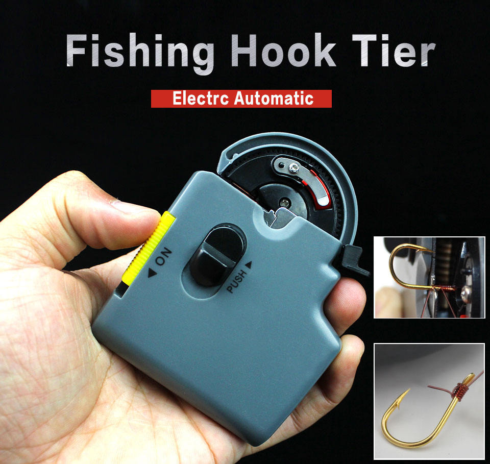 Portable Metal ABS Manually Hooks Tier Machine Tools For Fishing Hooks /& Line