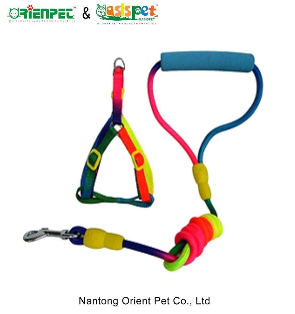 ORIENPET & OASISPET pet harness and leashes Rainbow color JJFD6558 Pet products