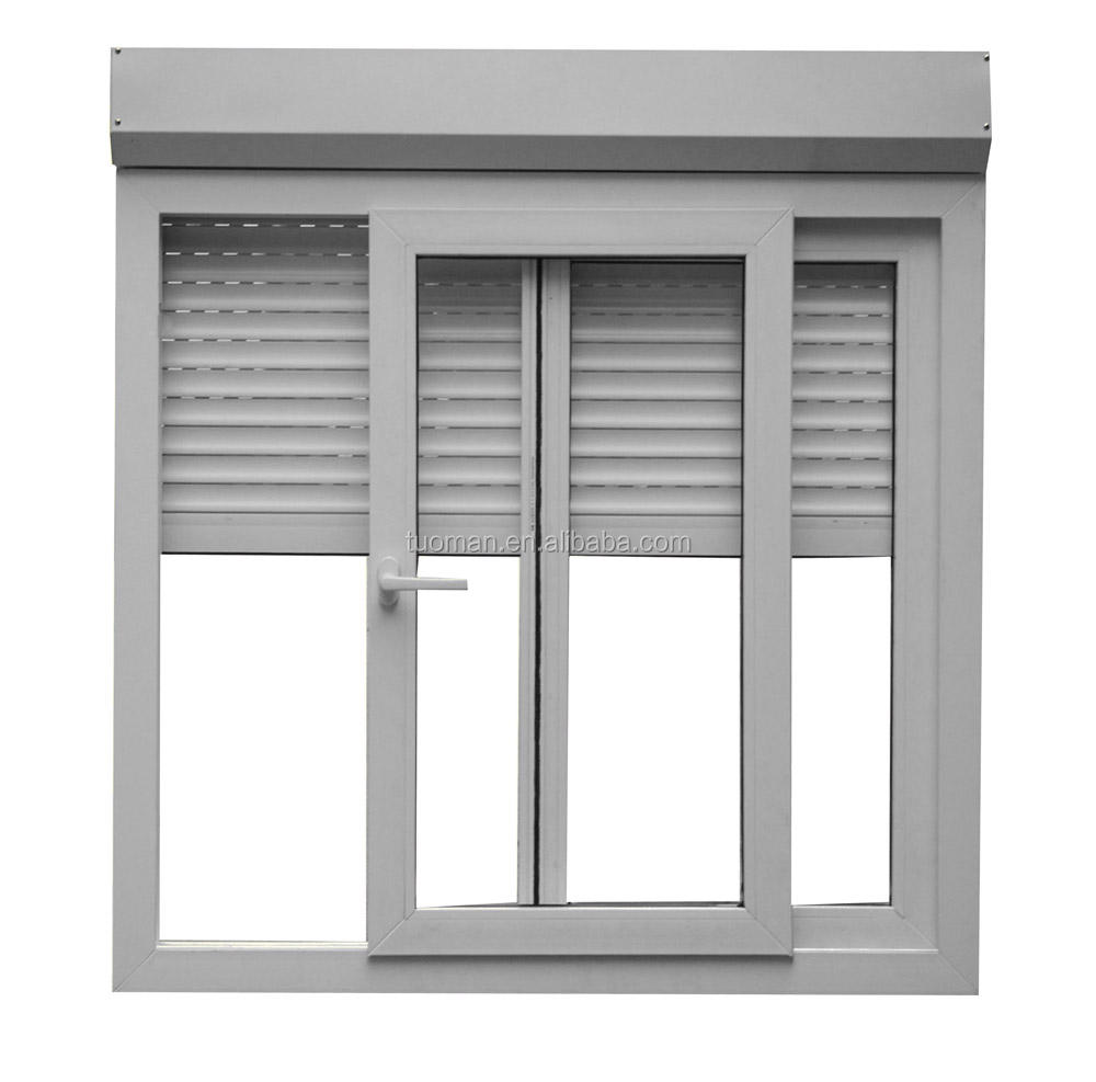 China aluminum windows and doors with roller shutter