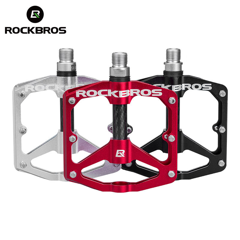 MTB Mountain Road BIKE BMX Sealed SKF Bearing Pedals Platform Bicycle Pedal RED