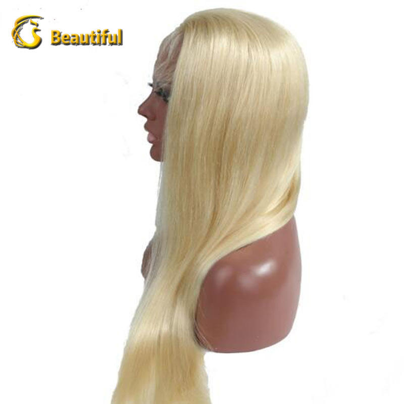 200 density 26 inch straight 613 blonde full lace wigs virgin brazilian human hair lace wig