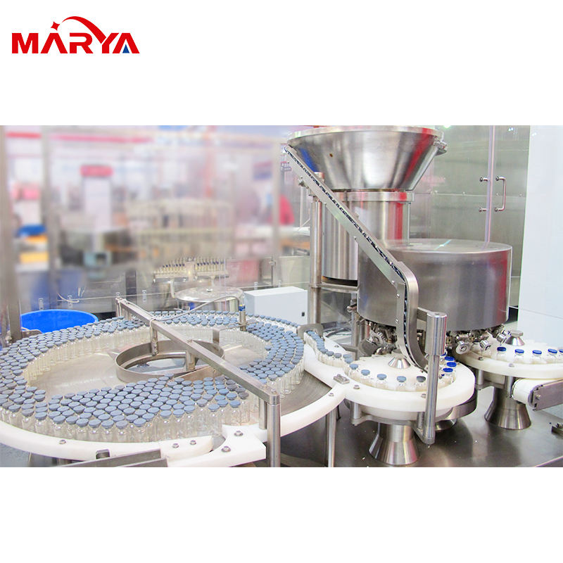 Pharmaceutical Automatic Glass Vial Washing Sterilizing Filling Capping Inspection Labeling Linkage Line with Freeze Dryer