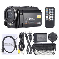 "ORDRO HDV-F5 3.0"" Digital Video Camera Camcorder 1080P 24MP 16X Anti-shake DV Rotatable Touch Screen LCD With Remote Controller"