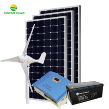 Easy installation 5kw hybrid solar wind power generator system