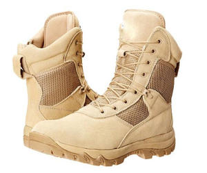 US Beige Desert Military Boots With Zipper