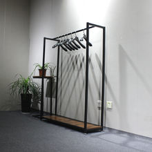 huohua wholesale modern appearance metal garment shop standing clothes rack