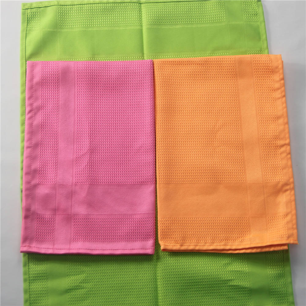 All sorts of color of 40 * 60 cm 55 g microfiber tea towels, dropping glass cleaning wipes