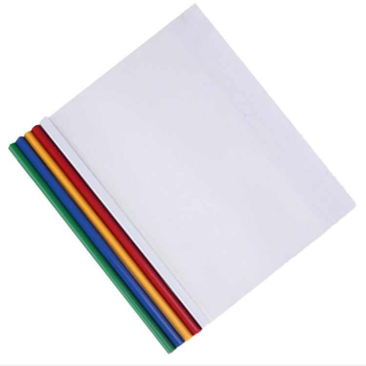 Wholesale report cover colorful plastic slide bar file sheet cover for conference