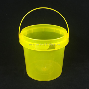 Food grade small container 1 liter transparent plastic bucket