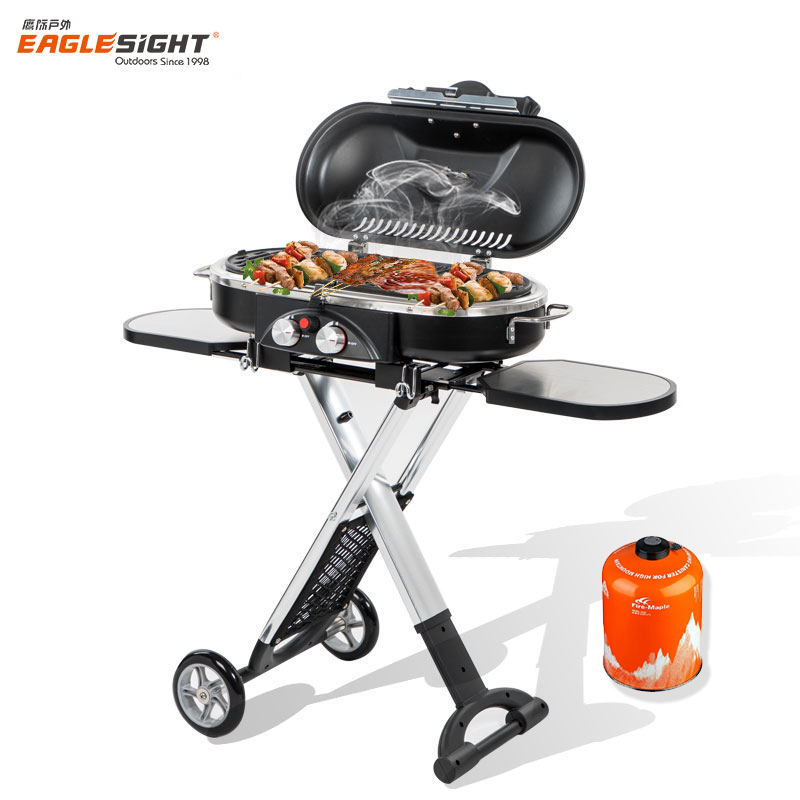 Outdoor Portable Stainless Steel BBQ Gas Grill