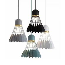 Home Decoration Wholesale New Product Badminton Shape Iron Hanging Pendant Vintage Lamps And Lights