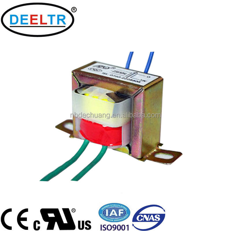 OEM UL CE approved ei 57 12V 16V 18V 24V 25VA high quality pure copper wire current isolation power transformer