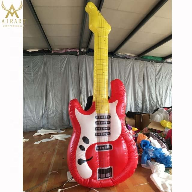 Electric guitar model outdoor advertising inflatable product for music festival guitar