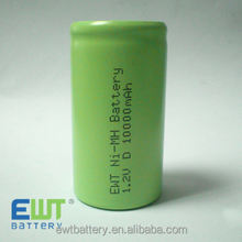 Ni-MH D 10000mAh 1.2v Battery nimh D 1.2v 10Ah battery cell