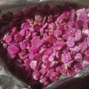 HIgh quality natural raw real gemstone ruby rough stone for wholesale price