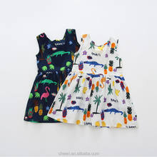 HT-BGCD Stylish Custom Wholesale Children Boutique Clothing Girls Cotton Kids Frock Designs Child Dress
