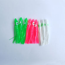 7.5cm small size colorful fishing octopus squid skirts lures