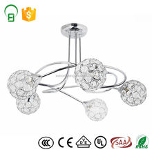 Indoor home decoration light 5 lights iron fancy ceiling lights