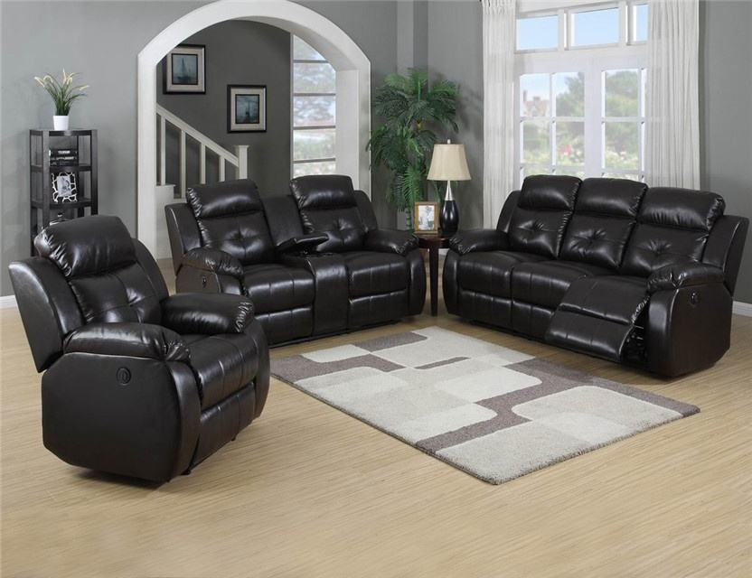 Hot selling Top leather reclining living room 3 2 1 home furniture sofa set