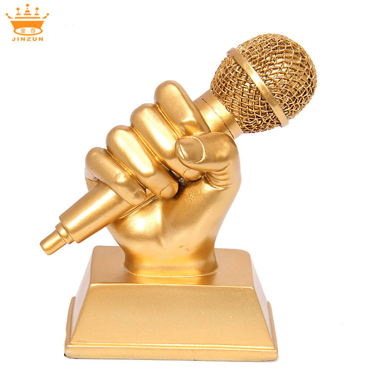Yiwu China metal voice award singing trophy