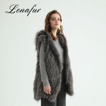Best Selling Design Fox Women Genuine Rabbit Fur Knit Vest
