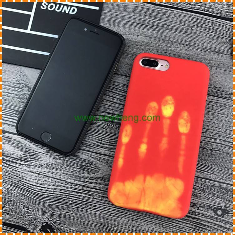 Wholesale sensitive color change by temperature phone case for iphone 7