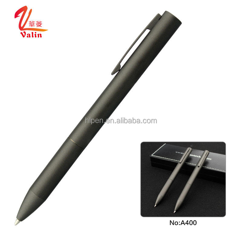 New design black matt color ball point hotel pen with gift box