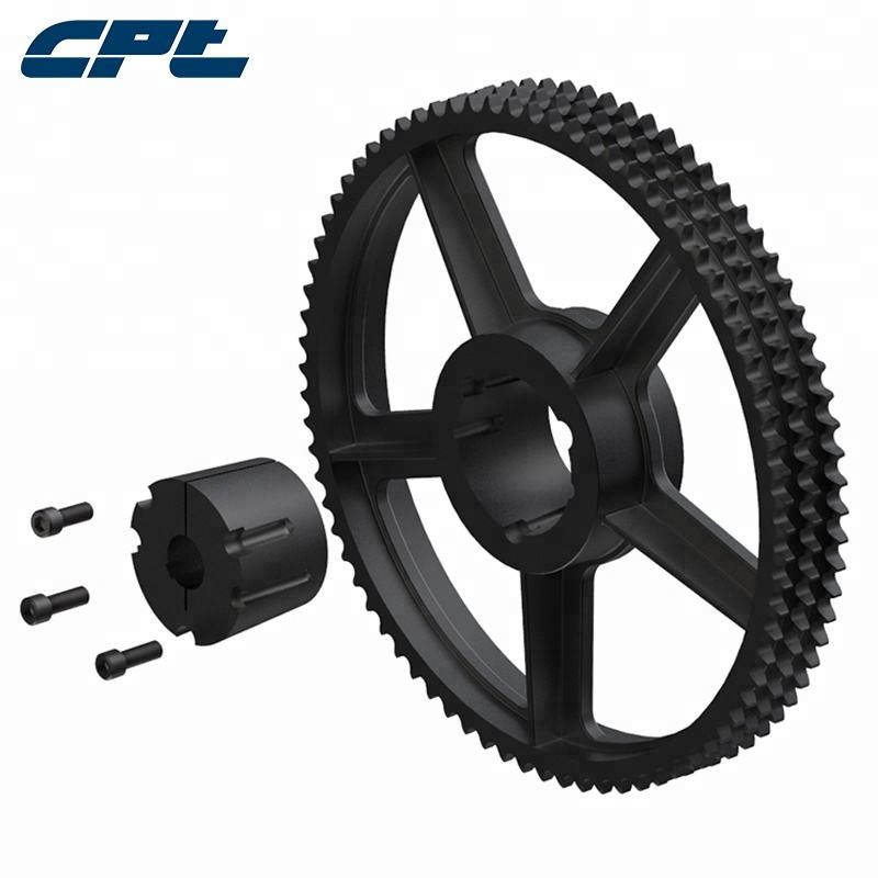 Cast iron taper lock sprocket manufacturers for double roller chain sprocket