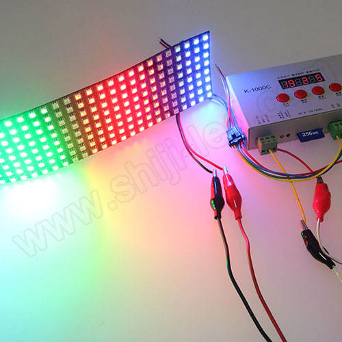 P10 sk6812 SMD5050 fleksibel 16x16 8x32 8x8 Led Dot Matrix